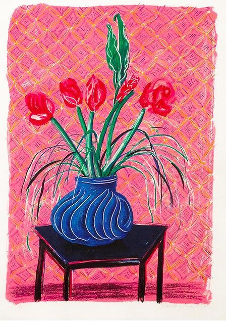 David Hockney - Vase 1984