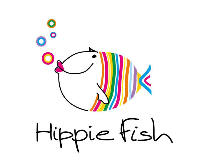 Hippie fish for Fish hippie sticker