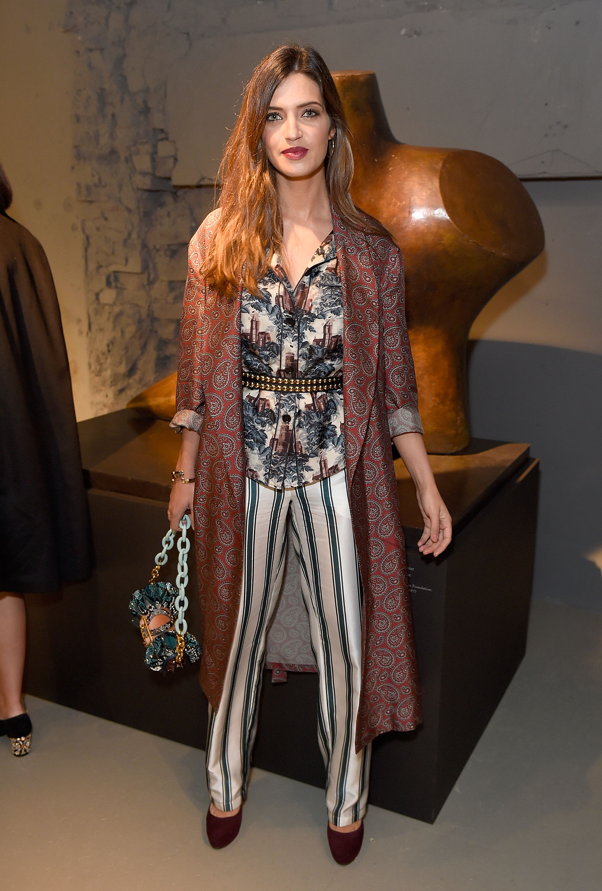 LONDON, ENGLAND - FEBRUARY 20:  Sara Carbonero wearing Burberry attends the Burberry February 2017 Show during London Fashion Week February 2017 at Makers House on February 20, 2017 in London, England.  (Photo by David M. Benett/Getty Images for Burberry) *** Local Caption *** Sara Carbonero