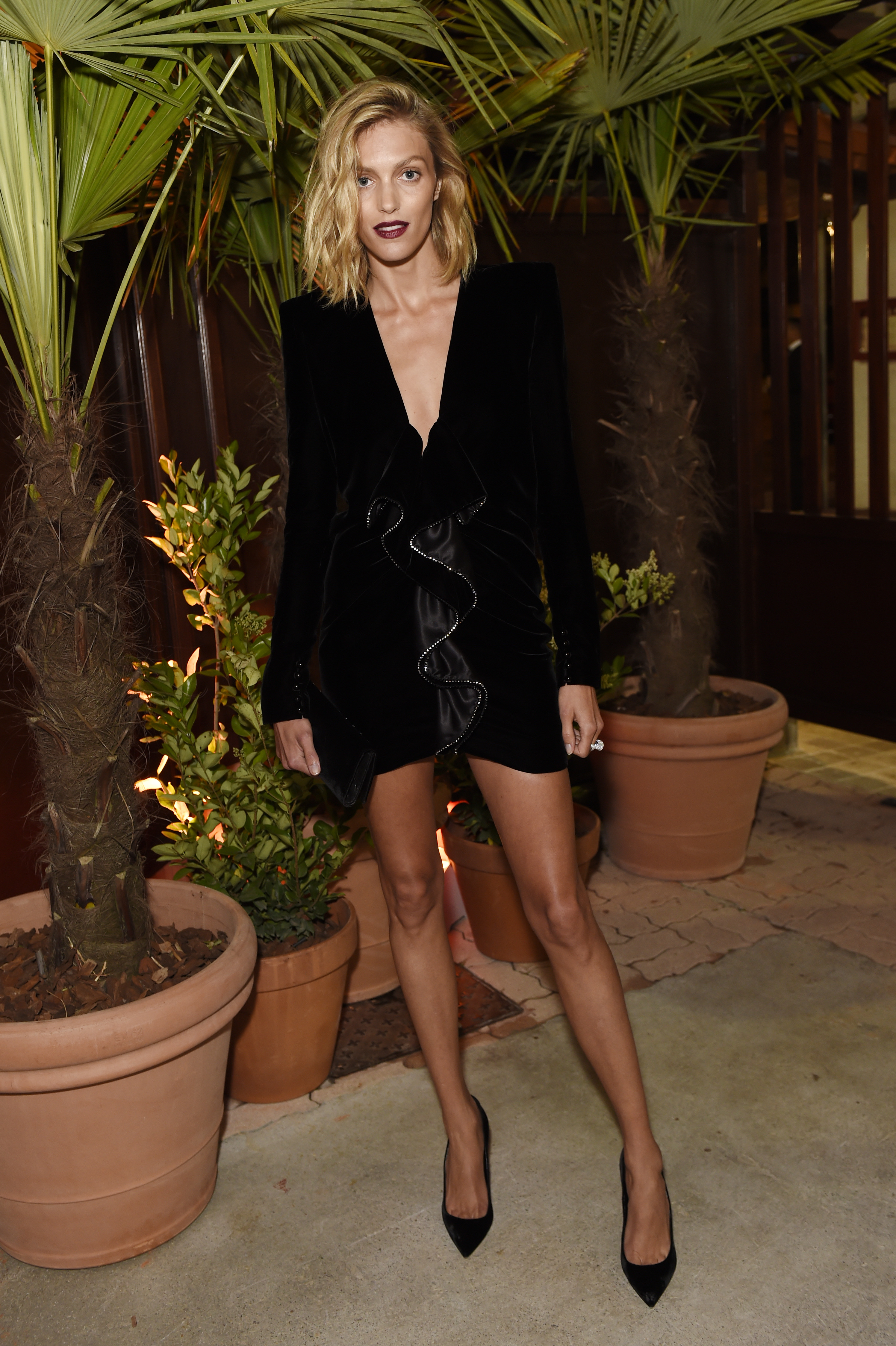 CANNES, FRANCE - MAY 22:  Anja Rubik attends Prada Private Dinner during the 70th annual Cannes Film Festival at Restaurant Fred L'Ecailler on May 22, 2017 in Cannes, France.  (Photo by Antony Jones/Getty Images for Prada)