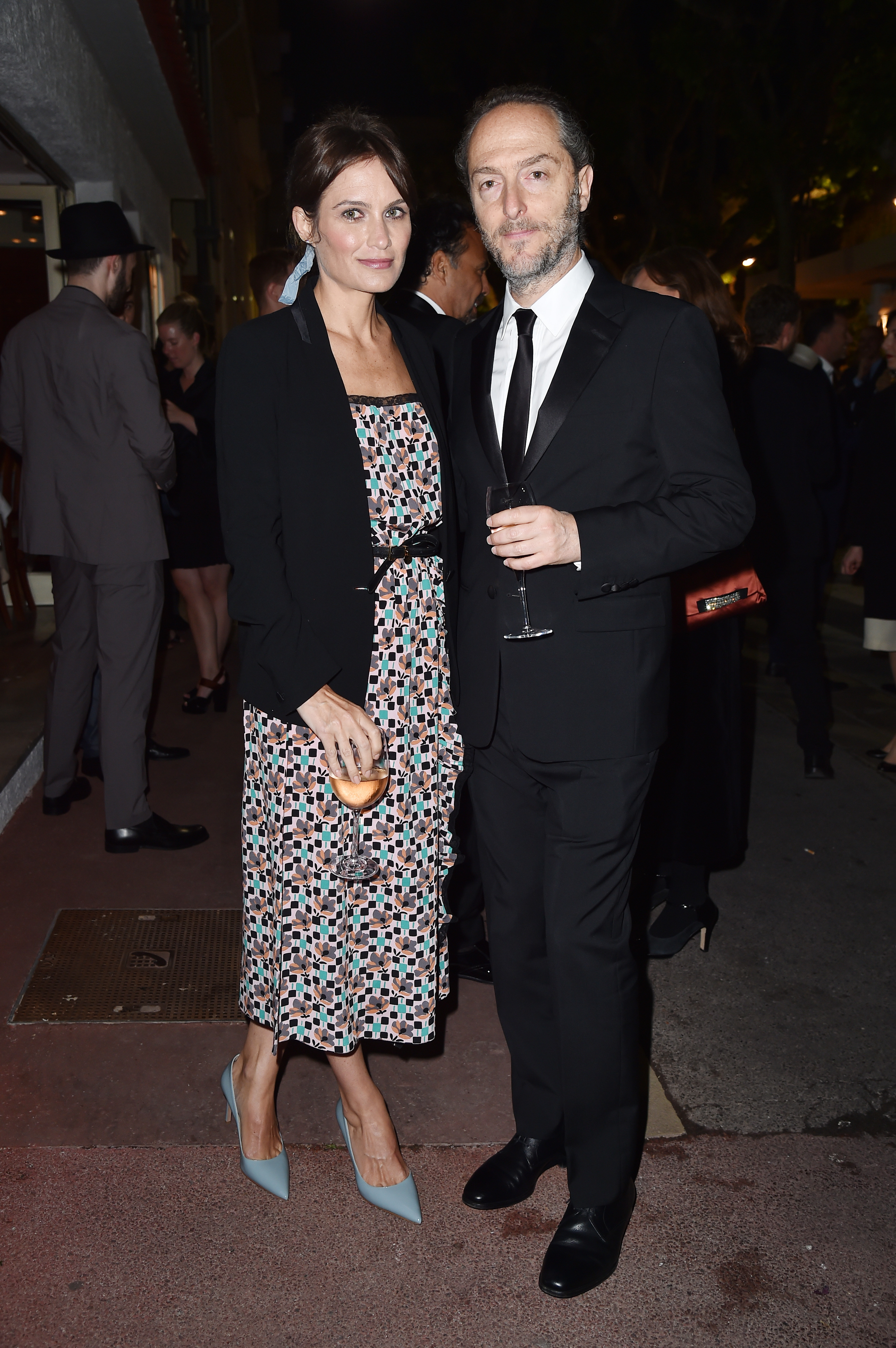 CANNES, FRANCE - MAY 22:  Sheherazade Goldsmith and Emmanuel Lubezki attend Prada Private Dinner during the 70th annual Cannes Film Festival at Restaurant Fred L'Ecailler on May 22, 2017 in Cannes, France.  (Photo by Jacopo Raule/Getty Images for Prada)