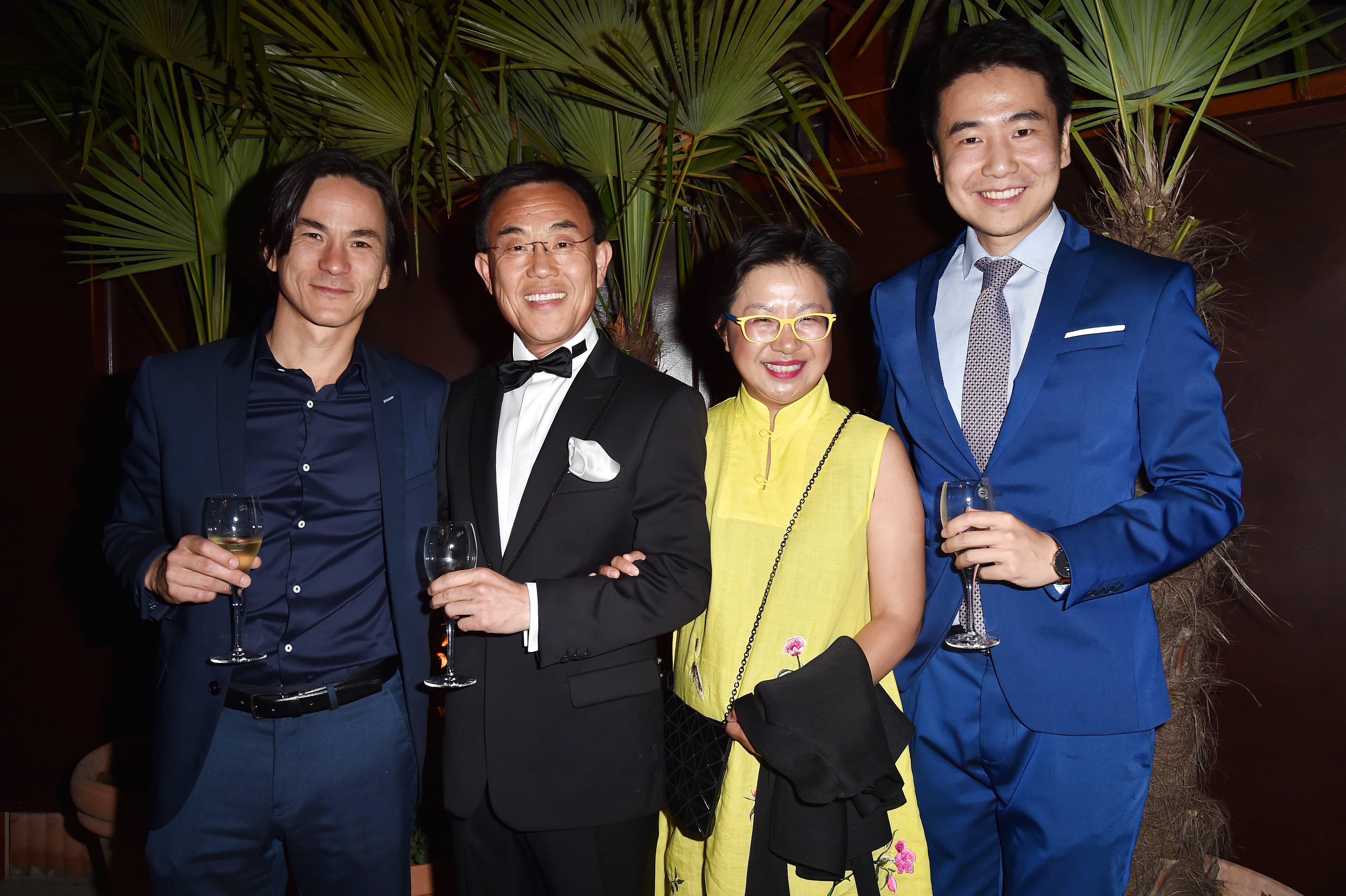 CANNES, FRANCE - MAY 22:  Benoit Chang, Jack Gao , Miao Xu and Hang Shi attend Prada Private Dinner during the 70th annual Cannes Film Festival at Restaurant Fred L'Ecailler on May 22, 2017 in Cannes, France.  (Photo by Jacopo Raule/Getty Images for Prada)
