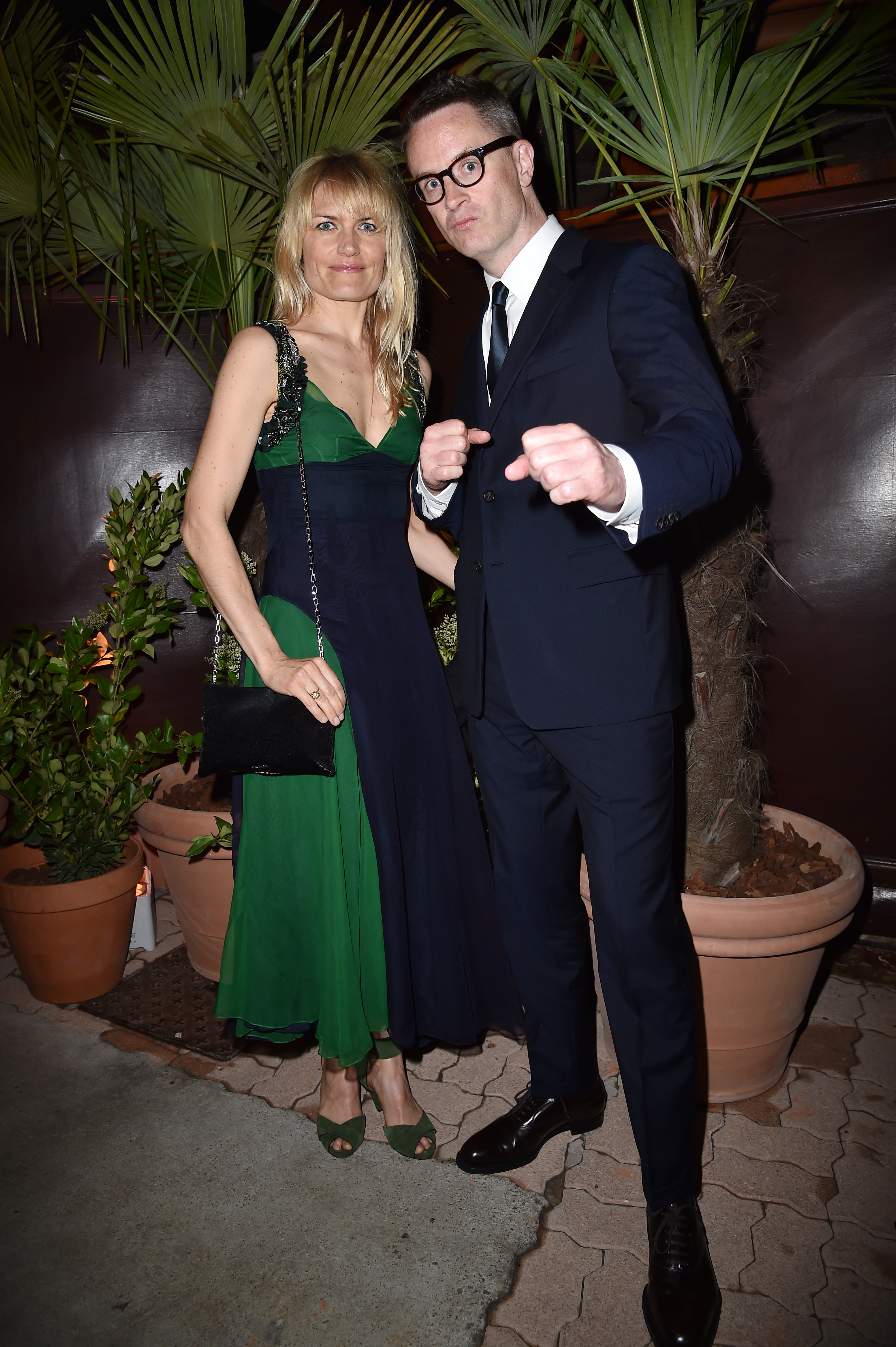 CANNES, FRANCE - MAY 22:  Liv Corfixen and Nicolas Winding Refn attend Prada Private Dinner during the 70th annual Cannes Film Festival at Restaurant Fred L'Ecailler on May 22, 2017 in Cannes, France.  (Photo by Jacopo Raule/Getty Images for Prada)