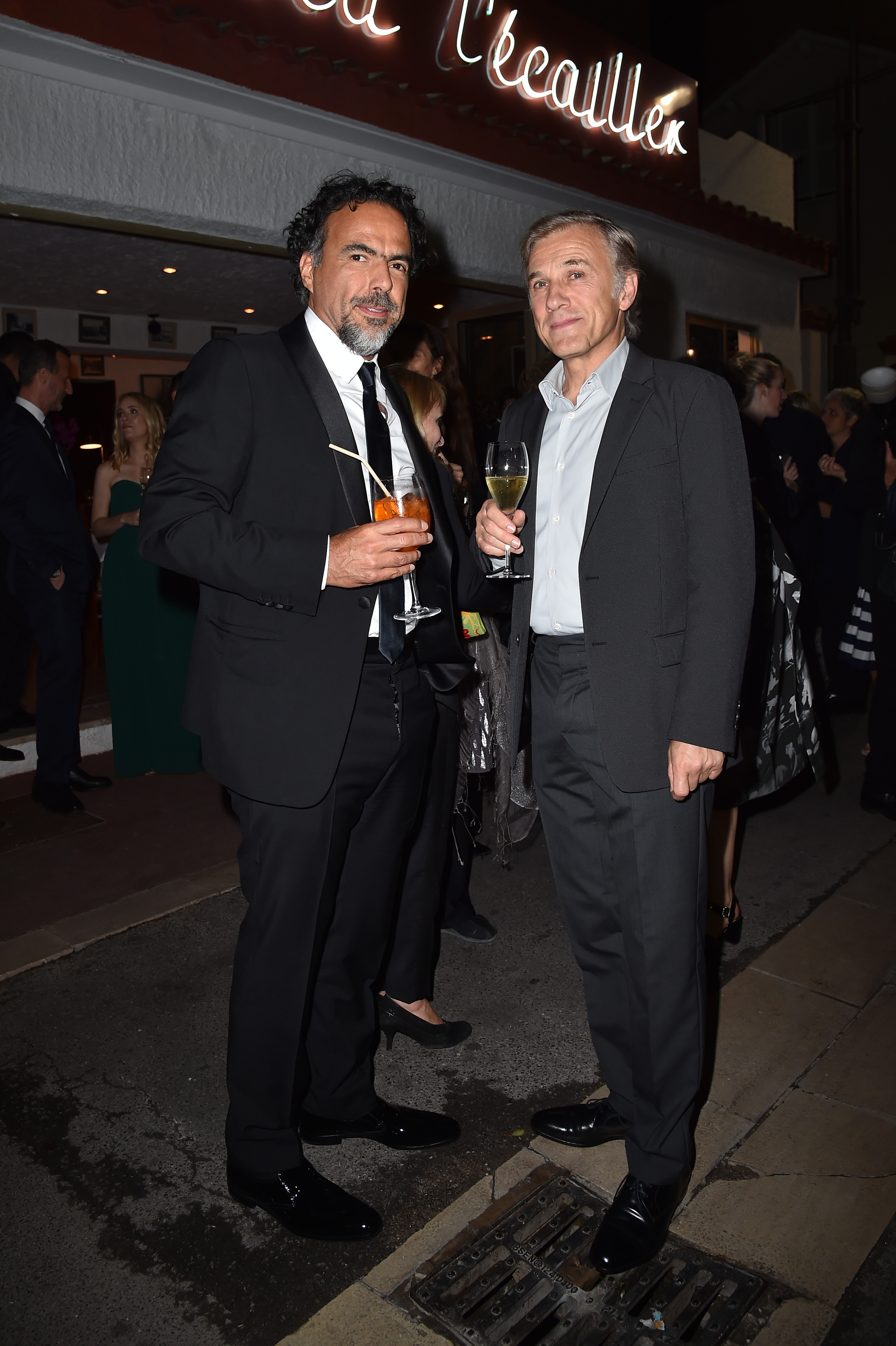 CANNES, FRANCE - MAY 22:  Alejandro Gonzalez Inarritu and Christoph Waltz attend Prada Private Dinner during the 70th annual Cannes Film Festival at Restaurant Fred L'Ecailler on May 22, 2017 in Cannes, France.  (Photo by Jacopo Raule/Getty Images for Prada)