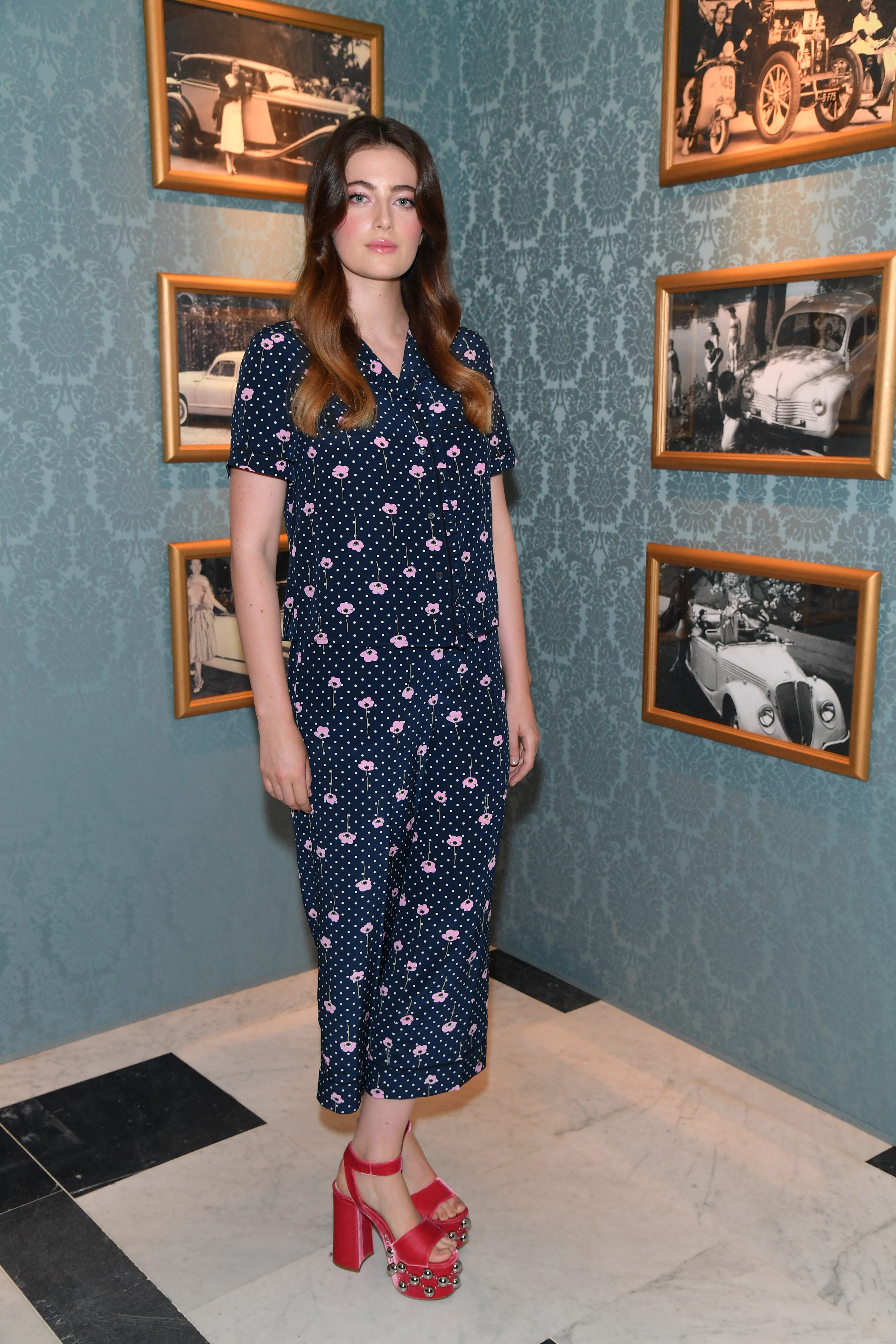 PARIS, FRANCE - JULY 02:  Millie Brady attends Miu Miu Cruise Collection show as part of Haute Couture Paris Fashion Week on July 2, 2017 in Paris, France.  (Photo by Dominique Charriau/Getty Images for Miu Miu) *** Local Caption *** Millie Brady