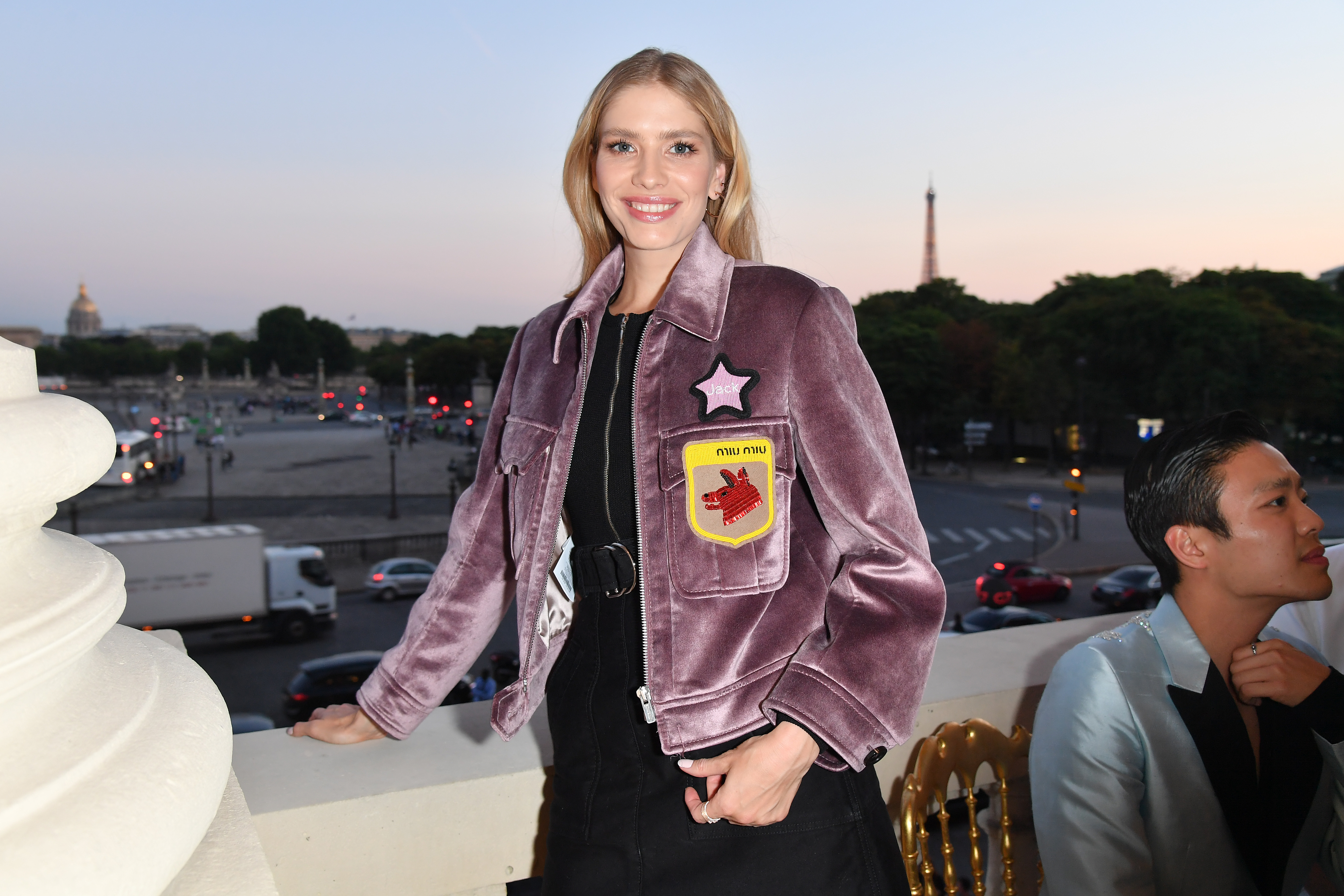 PARIS, FRANCE - JULY 02:  Elena Perminova attends Miu Miu Cruise Collection cocktail & party as part of Haute Couture Paris Fashion Week on July 2, 2017 in Paris, France.  (Photo by Dominique Charriau/WireImage) *** Local Caption *** Elena Perminova