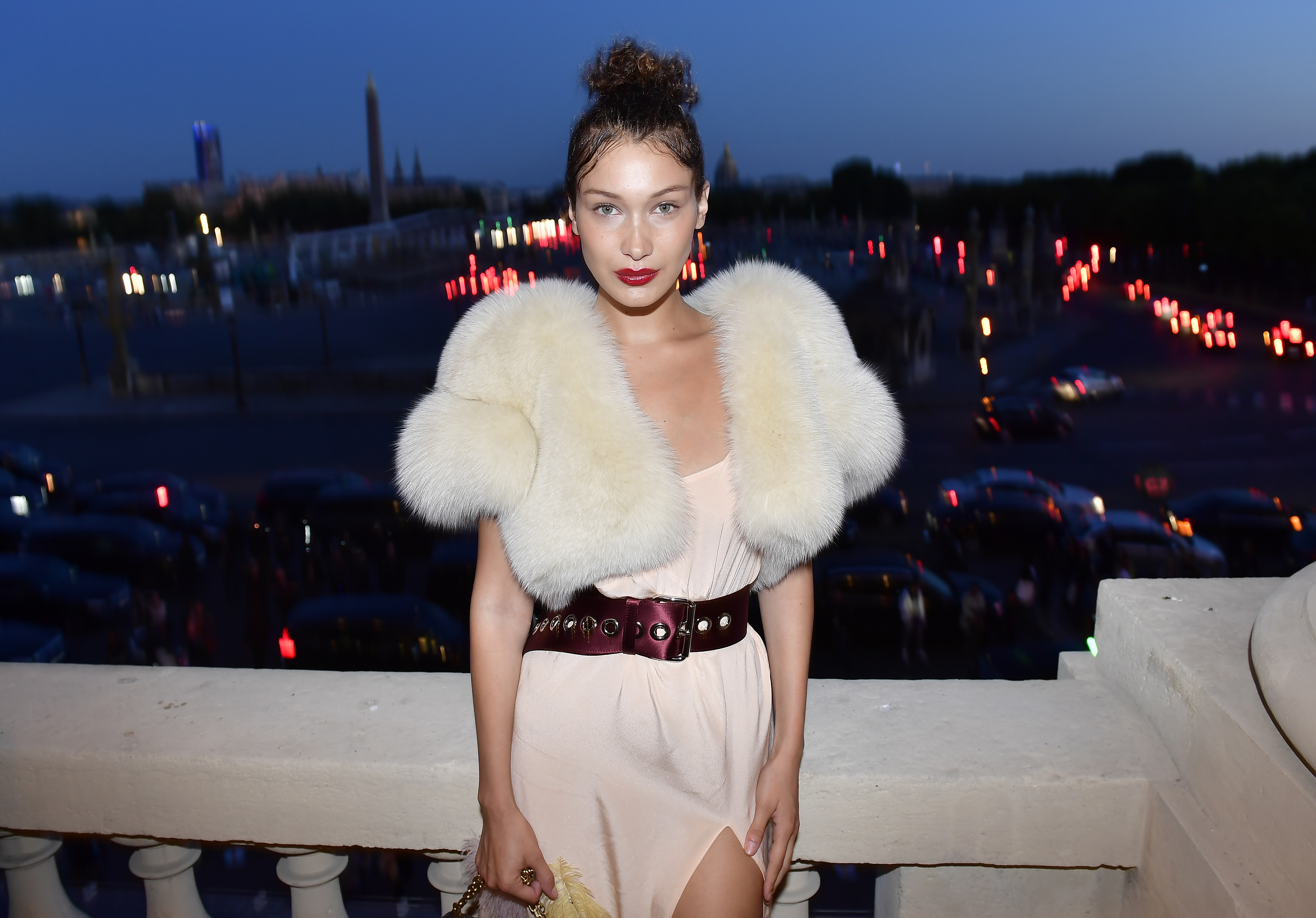 PARIS, FRANCE - JULY 02:  Bella Hadid attends Miu Miu Cruise Collection cocktail & party as part of Haute Couture Paris Fashion Week on July 2, 2017 in Paris, France.  (Photo by Victor Boyko/Getty Images for Miu Miu) *** Local Caption *** Bella Hadid