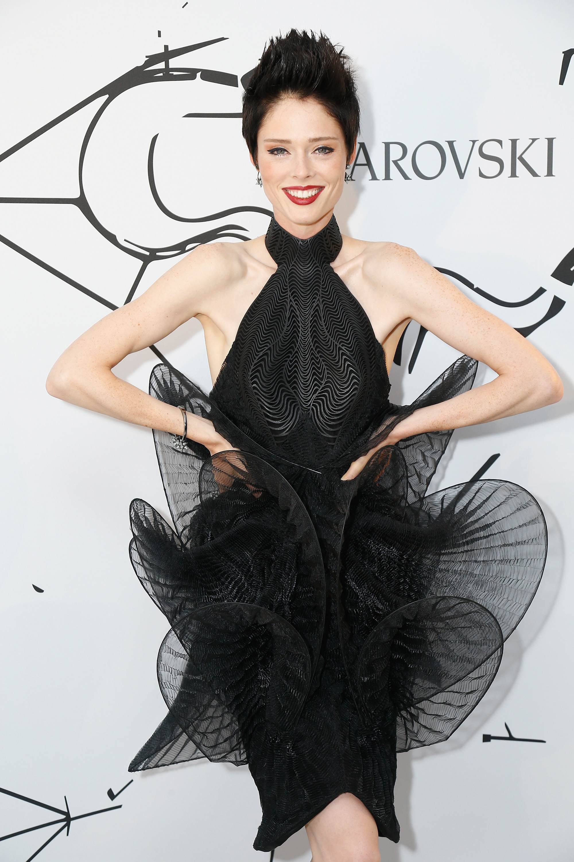 PARIS, FRANCE - JULY 05:  Coco Rocha attends the Iris Van Herpen X Swarovski Cocktail Haute Couture Fall/Winter 2017-2018 show as part of Haute Couture Paris Fashion Week on July 3, 2017 in Paris, France.  (Photo by Julien Hekimian/Getty Images) *** Local Caption *** Coco Rocha