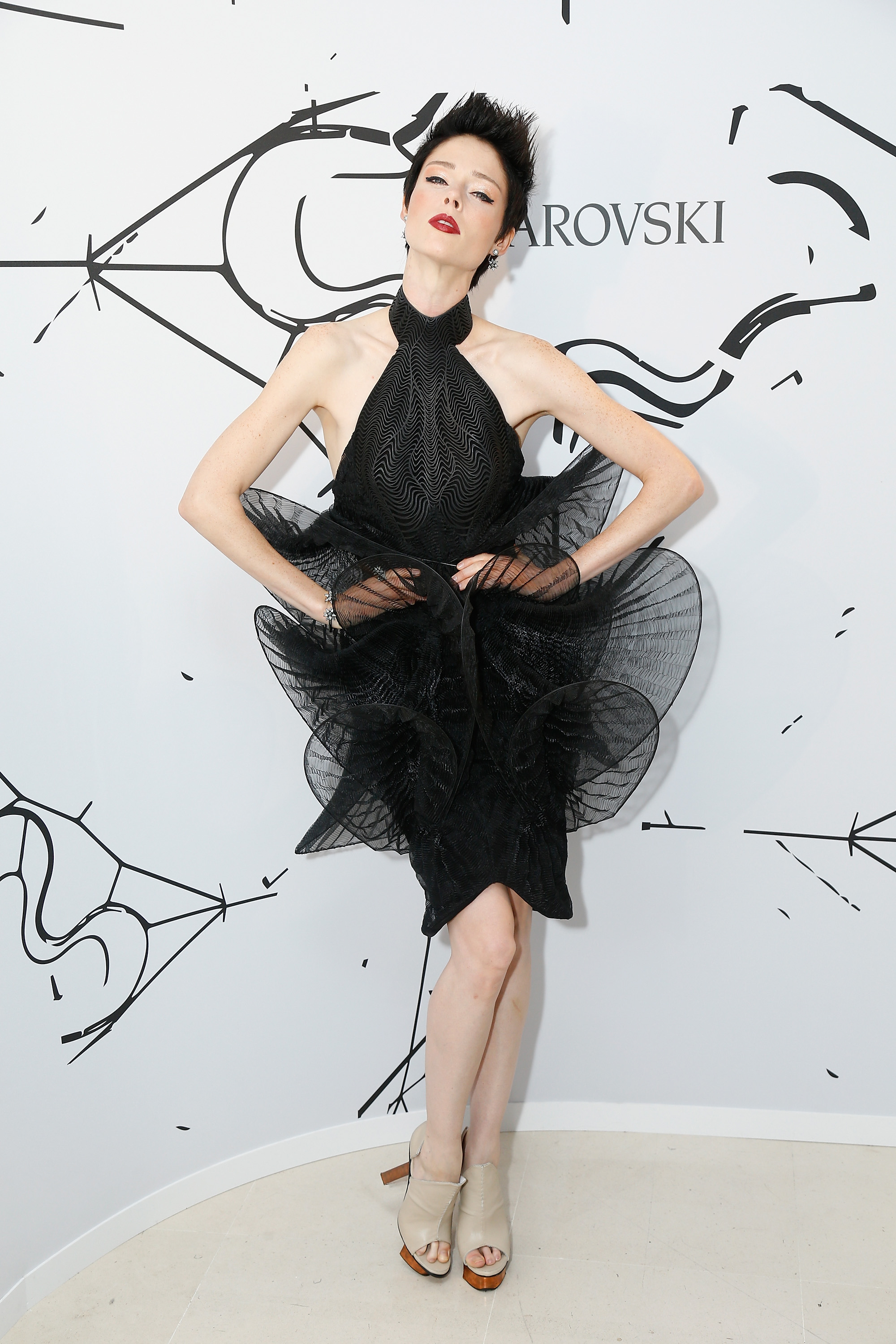 PARIS, FRANCE - JULY 03:  Coco Rocha attends the Iris Van Herpen X Swarovski Cocktail Haute Couture Fall/Winter 2017-2018 show as part of Haute Couture Paris Fashion Week on July 3, 2017 in Paris, France.  (Photo by Julien Hekimian/Getty Images) *** Local Caption *** Coco Rocha