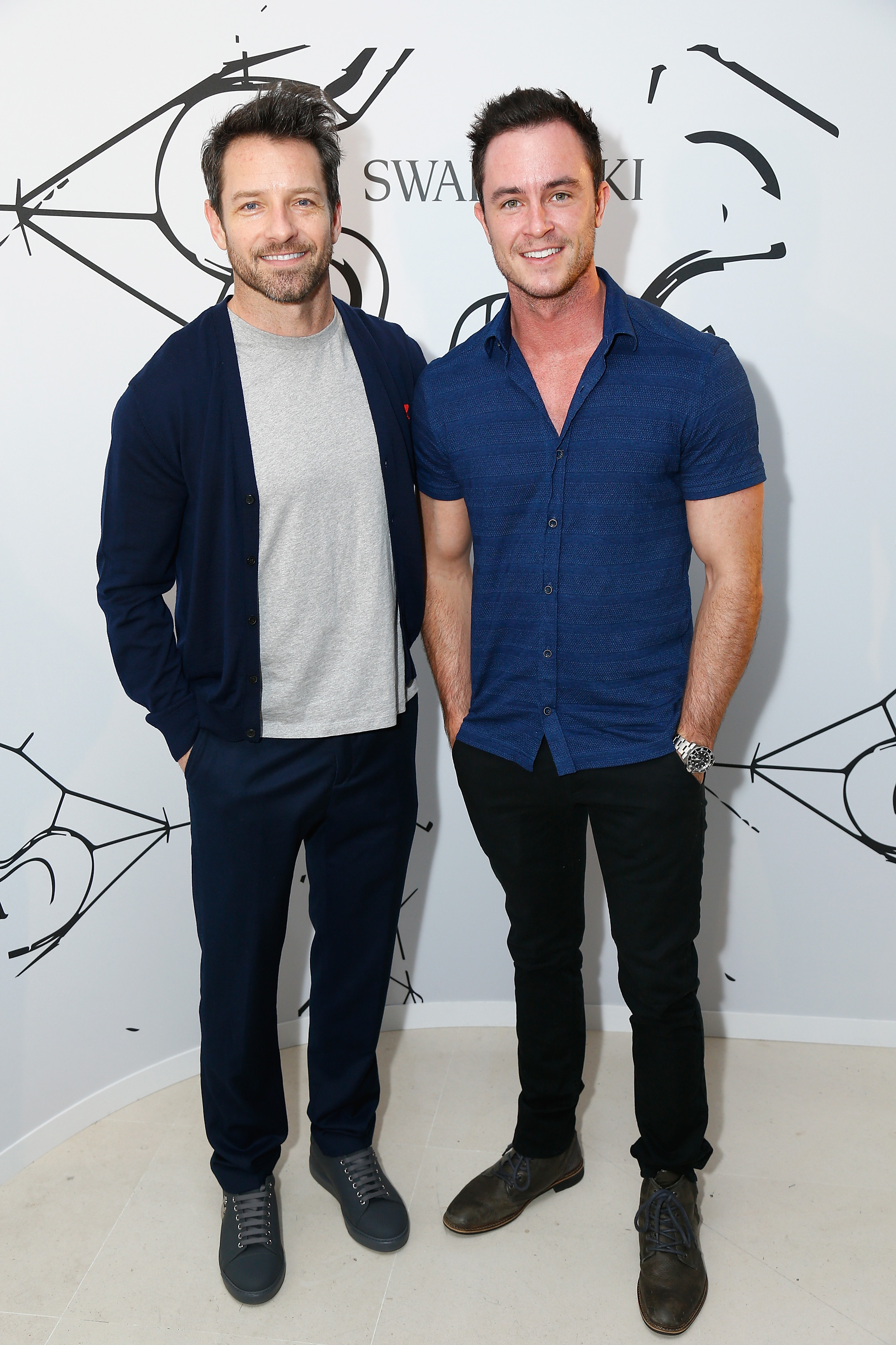 PARIS, FRANCE - JULY 03:  Ian Bohen and Ryan Kelley attend the Iris Van Herpen X Swarovski Cocktail Haute Couture Fall/Winter 2017-2018 show as part of Haute Couture Paris Fashion Week on July 3, 2017 in Paris, France.  (Photo by Julien Hekimian/Getty Images) *** Local Caption *** Ian Bohen; Ryan Kelley