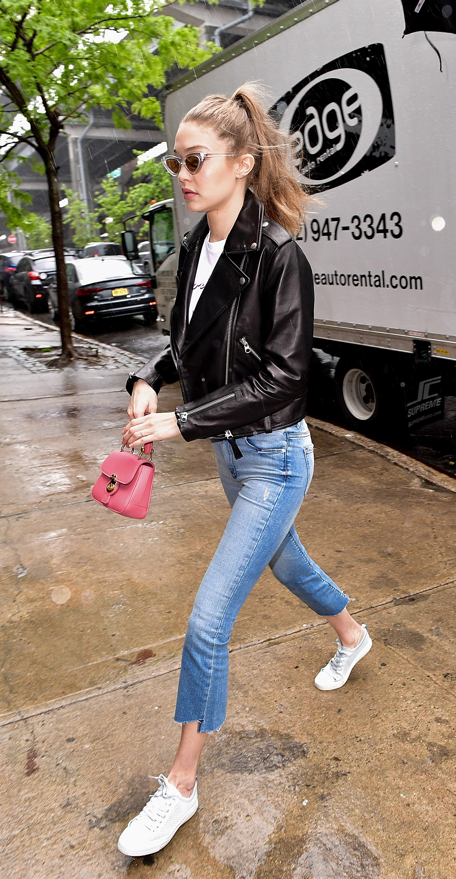 NEW YORK, NY - MAY 13:  (EXCLUSIVE COVERAGE)  Gigi Hadid seen on the streets of Brooklyn on May 13, 2017 in New York City.  (Photo by James Devaney/GC Images)