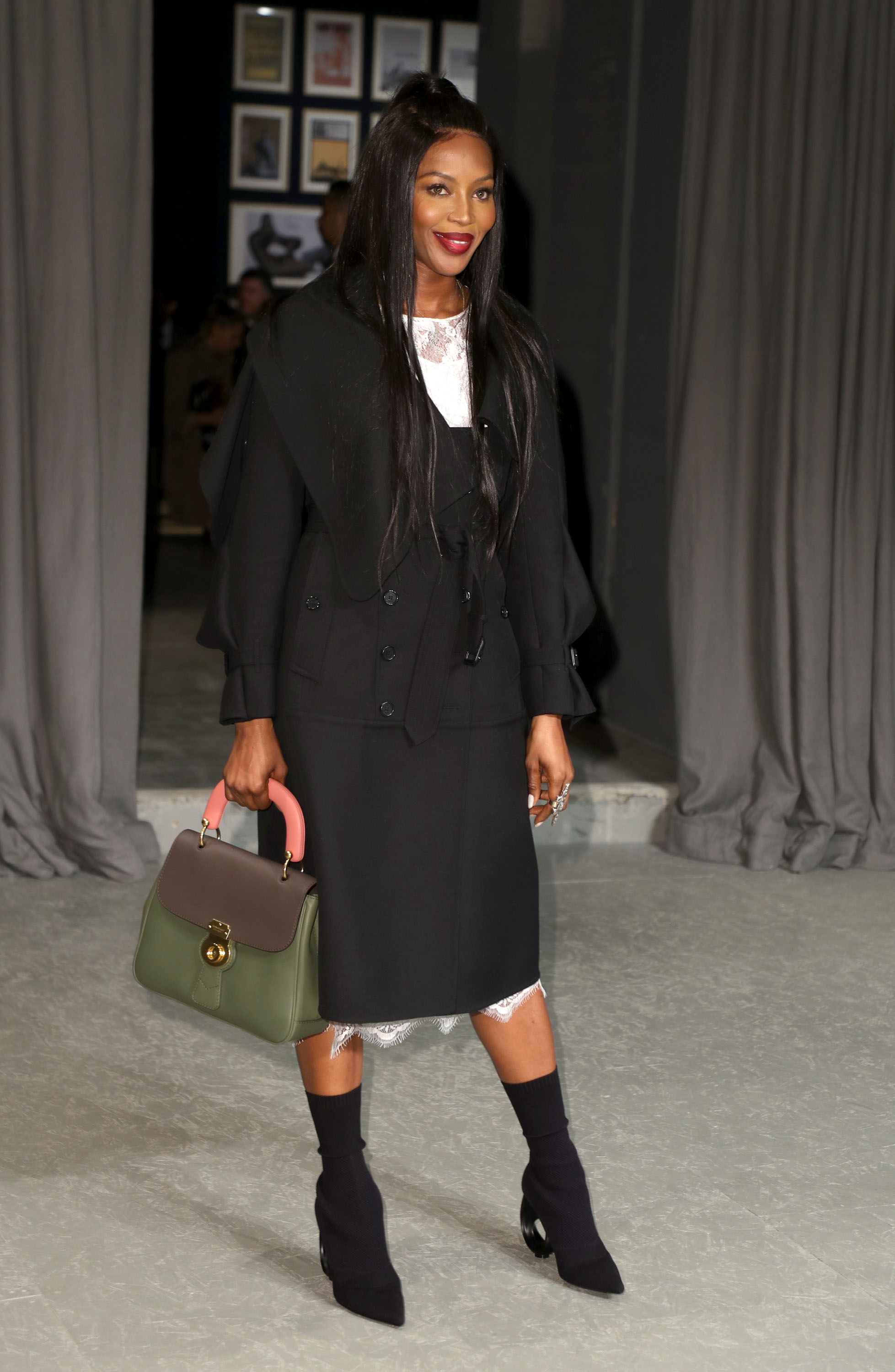LONDON, ENGLAND - FEBRUARY 20: Naomi Campbell attends the Burberry show during the London Fashion Week February 2017 collections on February 20, 2017 in London, England.  (Photo by Mike Marsland/Mike Marsland/WireImage)