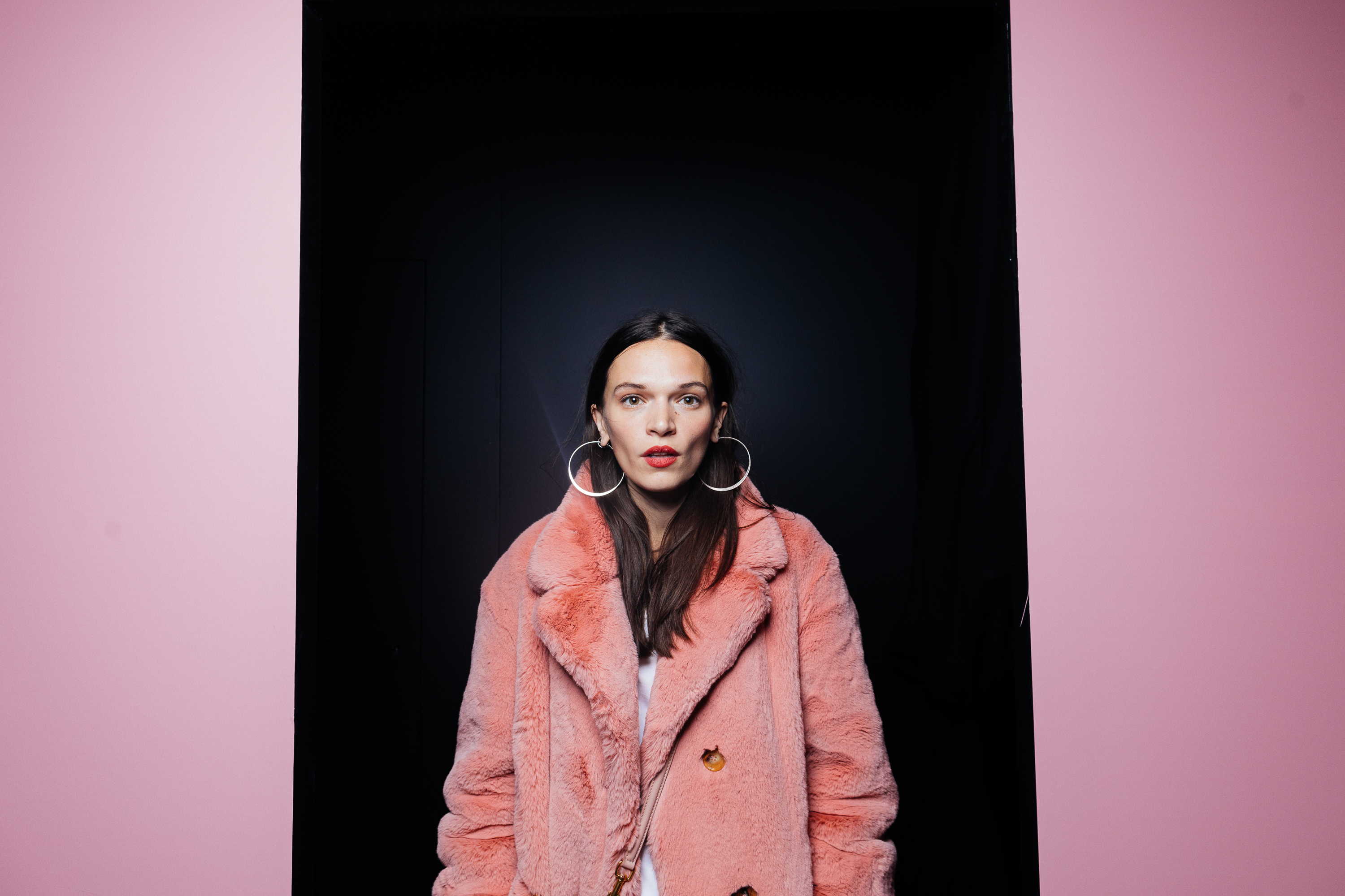 Anna Brewster at a private view of 'Here We Are' in Paris_001