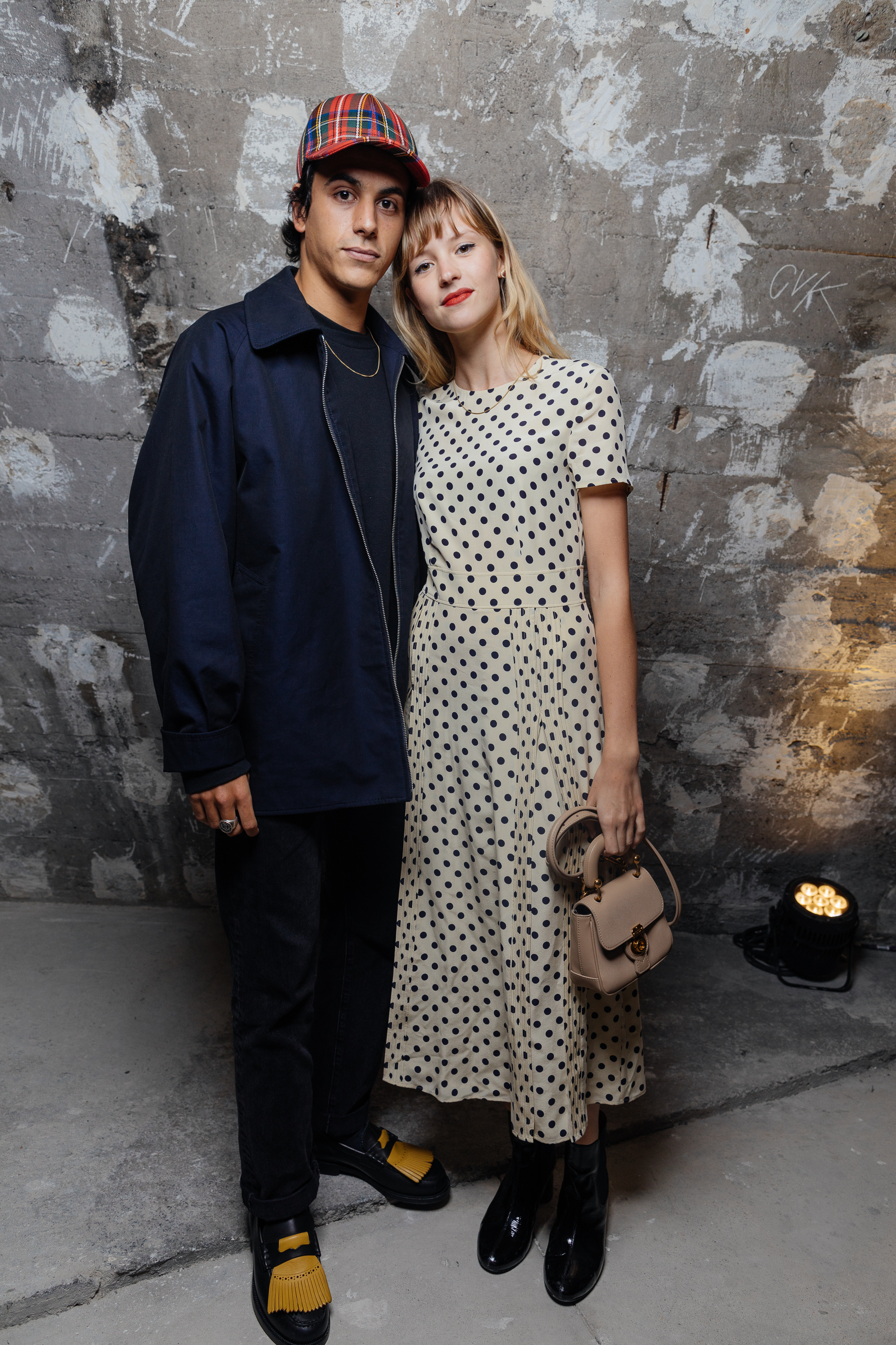 Leo Walk and Angele at a private view of 'Here We Are' in Paris