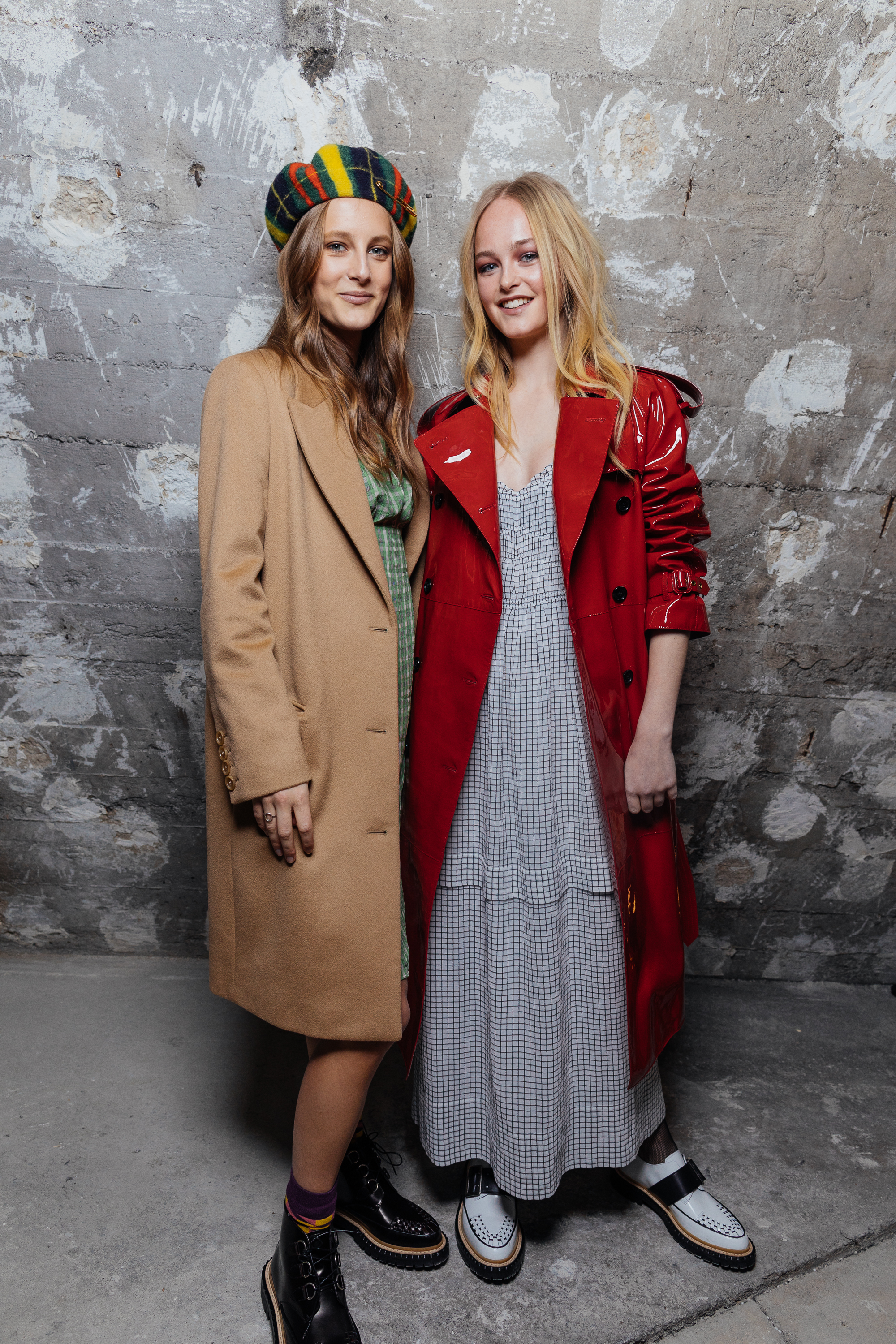 Olympia Campbell and Jean Campbell at a private view of 'Here We Are' in Paris_002