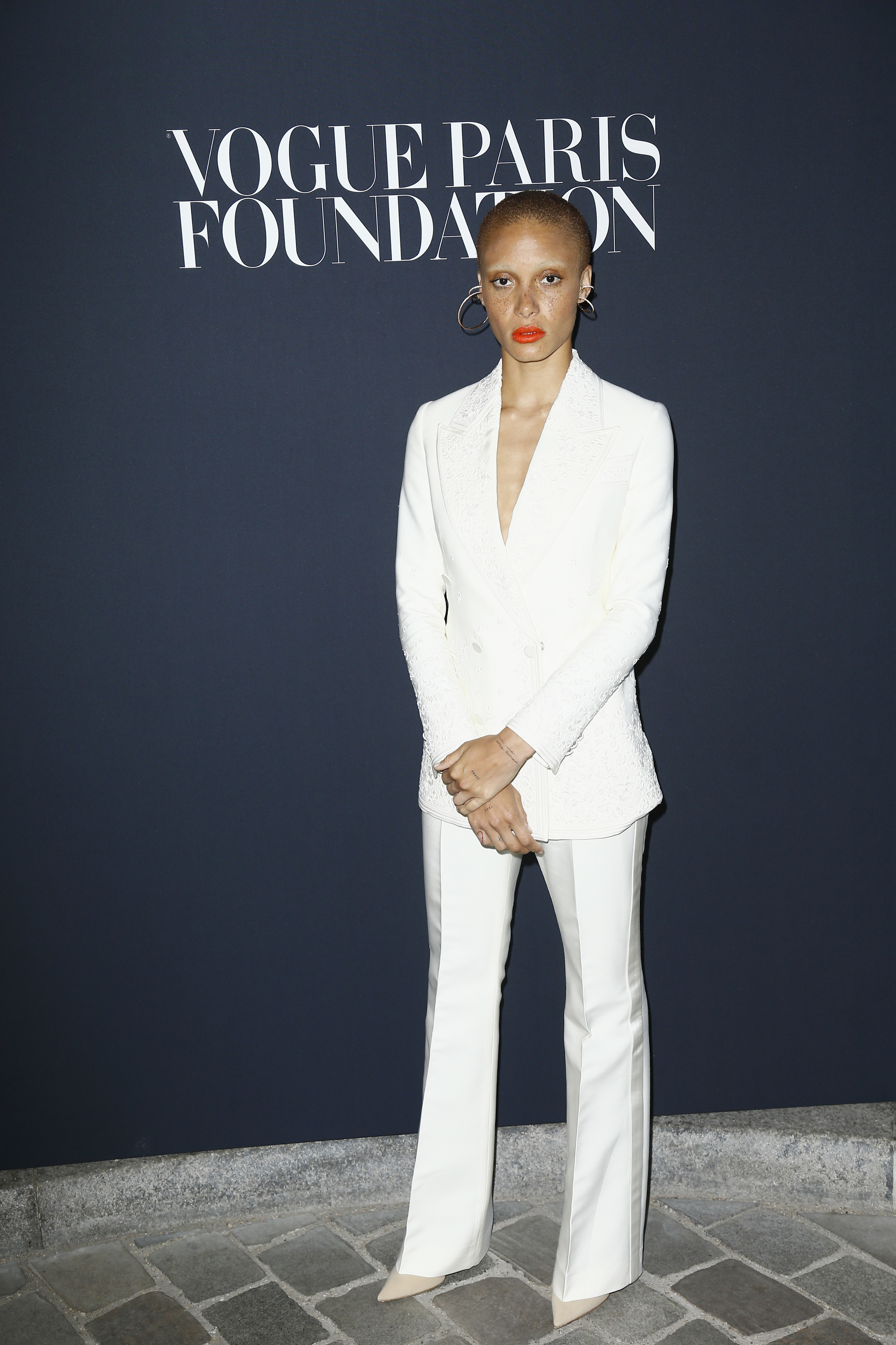 PARIS, FRANCE - JULY 04:  Adwoa Aboah attends the Vogue Foundation Dinner during Paris Fashion Week as part of Haute Couture Fall/Winter 2017-2018 at Musee Galliera on July 4, 2017 in Paris, France.  (Photo by Julien Hekimian/Getty Images for Vogue)